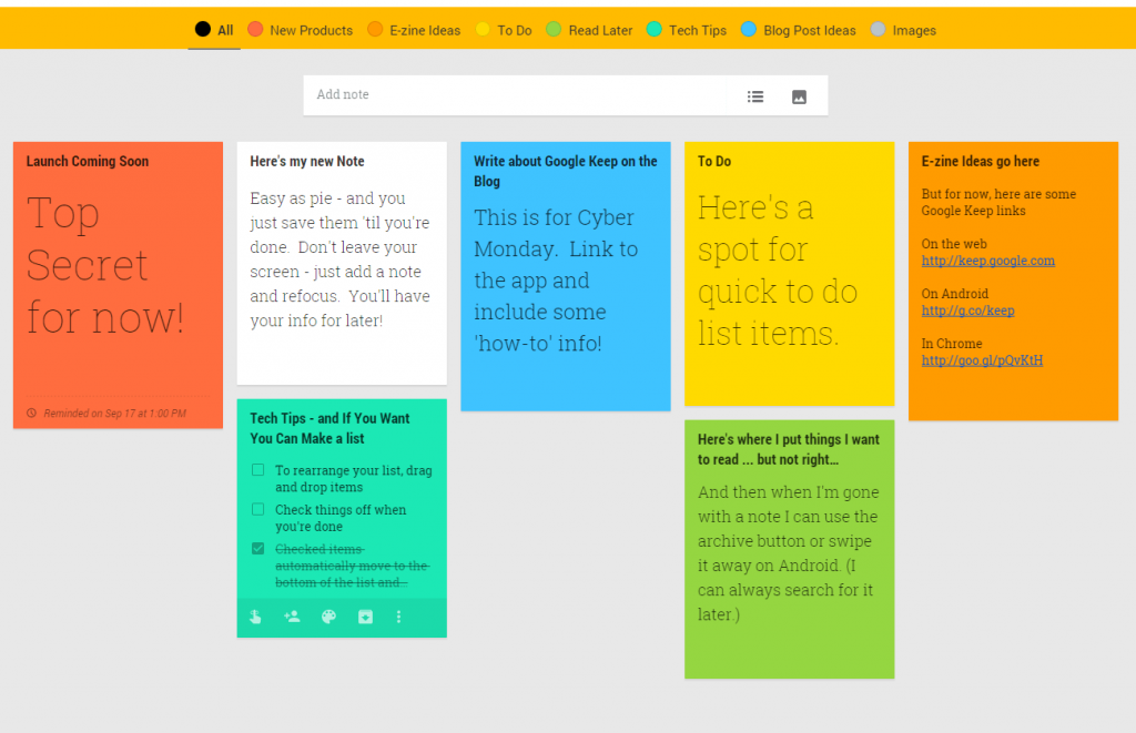 Google Keep: Best Way to Organize Your Notes - MICSUR