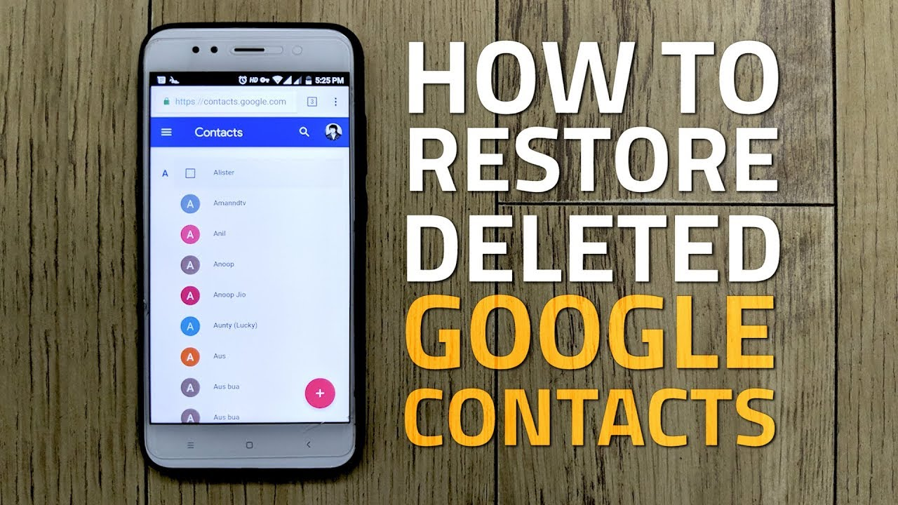how to see google contacts on android