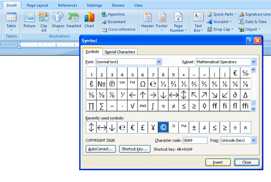 Steps To Insert Symbols In A Document - MICSUR